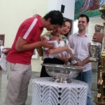 Celebração do Batismo de Manoela, Davi e Caetano