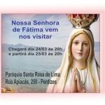 Recepção de Nossa Senhora de Fátima