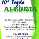 10ª Tarde da Alegria. Participe!