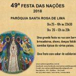 Participe da 49ª Festa das Nações 2018