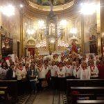 """""""Padre Sergio Lucas preside missa do Apostolado da Oração no Santuário do Sagrado Coração de Jesus, como Diretor Espiritual do Apostolado da Região Sé-Arquidiocese de São Paulo."""""""