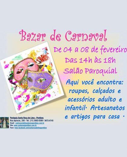 Bazar de Carnaval. Participe!