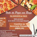 Noite da pizza com bingo