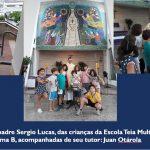 Crianças da Escola Teia Multicultural entrevistam Pe Sergio Lucas