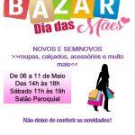 Bazar de Dia das Mães no Salão Paroquial