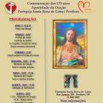 Programação da comemoração aos 175 anos do Apostolado da oração