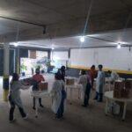Distribuição de cestas básicas no mês de maio